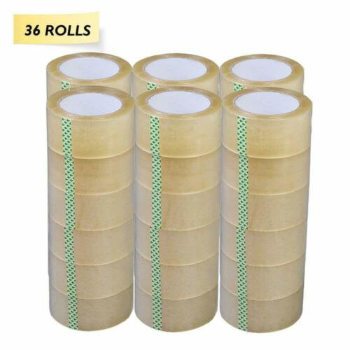 "36 Rolls 2"" Clear Tapes 110 yard 330 ft  Clear Packing Tape Carton Sealing Box"