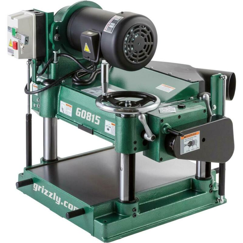 """Grizzly G0815 15"""" 3 HP Heavy-Duty Planer"""