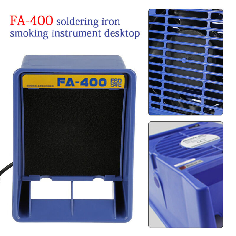 13W Benchtop Solder Smoke Absorber Remover Fume Extractor Air Filter Fan