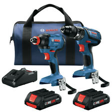 Bosch GXL18V-239B25-RT 18V 2-Tool Combo Kit w/ (2) 4 Ah Batteries Reconditioned