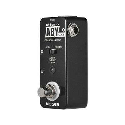 MOOER ABY MKII Channel Switch Guitar Effect Pedal True Bypass Full Metal V8Y7