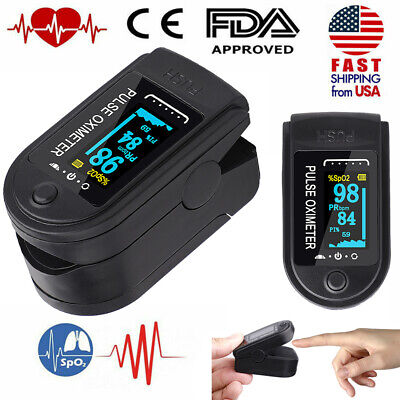 Fingertip Pulse Oximeter Oled Blood Oxygen Spo2 Monitor Pr Heart Rate Meter Fda