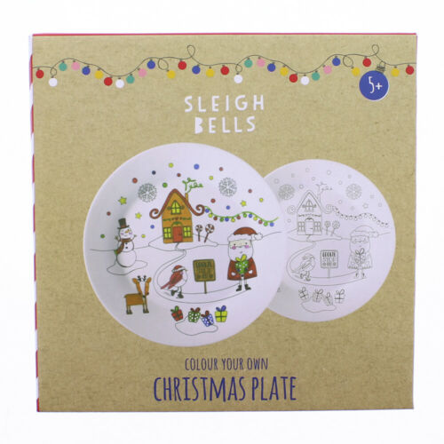 Colour+your+christmas+eve+PLATE+pens+brush+box+childs+activity+personalise+santa