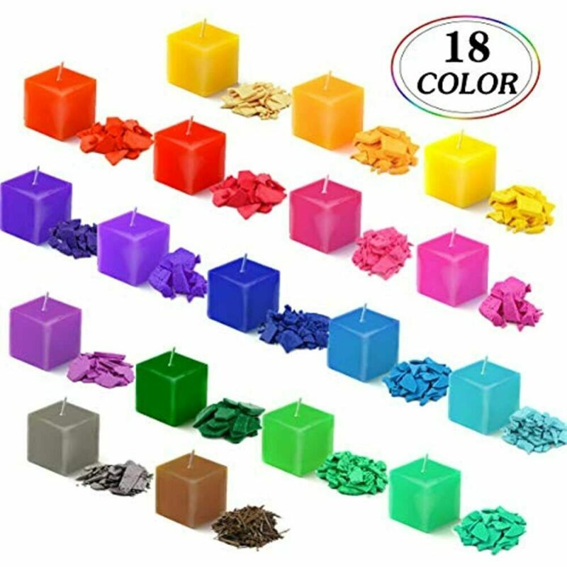 18 Color Candle Dye 20Pcs Wicks, Flakes For Making Supplies Kit Soy DIY - Each