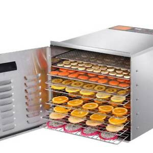 Food Dehydrator Commercial Grade 1000w 10 Shelves Stainless Steel Kings Beach Caloundra Area Preview
