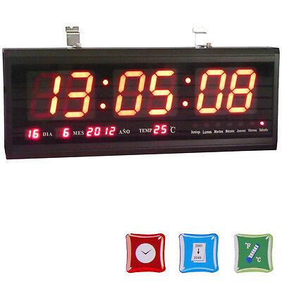 Digital Large Big Digit LED Wall Colck Desk Clock with Calendar Temperature Show