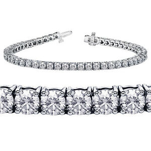 5-00-CT-TW-4-Prong-Set-100-Natural-Round-Diamond-Tennis-Bracelet-G-SI-New