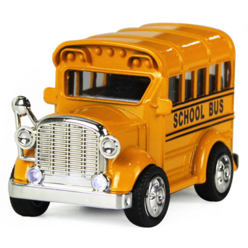 Mini Alloy School Bus, Die Cast Pull Back Play Vehicles, Cla