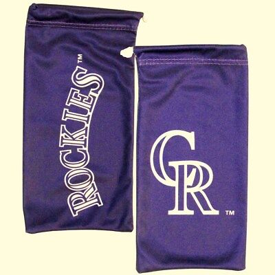 Colorado Rockies Microfiber Bag for Sunglasses Glasses MLB Licensed Baseball (Colorado Rockies Sunglasses)