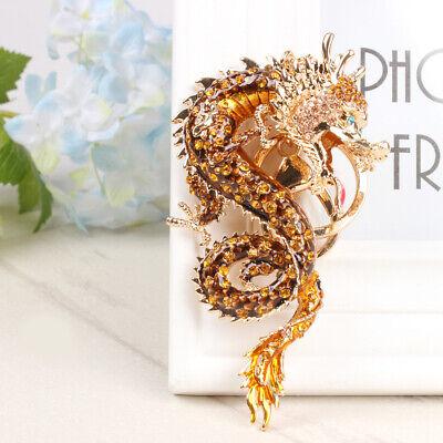 Zodiac Chinese Long Dragon Charm Pendant Crystal Purse Bag Car Key Chain Ring