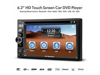 "6.2"" Double Din HD Car Stereo Headunit With Bluetooth DVD Player USB SD Aux & Radio"