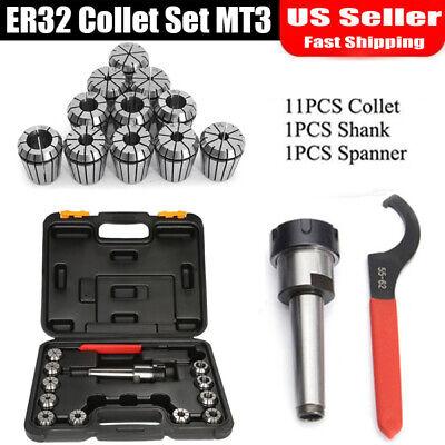 Mt3 Er32 Collet Chuck Er32 Spanner 11pc Er32 Collet Set For Milling Machin