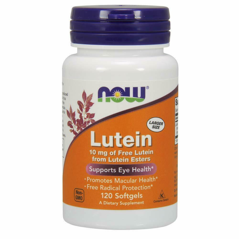 Now Foods Lutein 10 mg - 120 Softgels 3 Pack