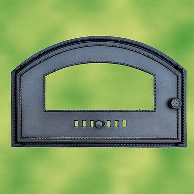 Backofentür Gusseisen mit Sichtglas breite Tür für Pizzaofen Holzbackofen GOT3G