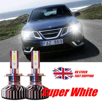 2x Saab 9-3 YS3F 501 Bright Xenon White 8SMD LED Canbus Number Plate Light Bulbs