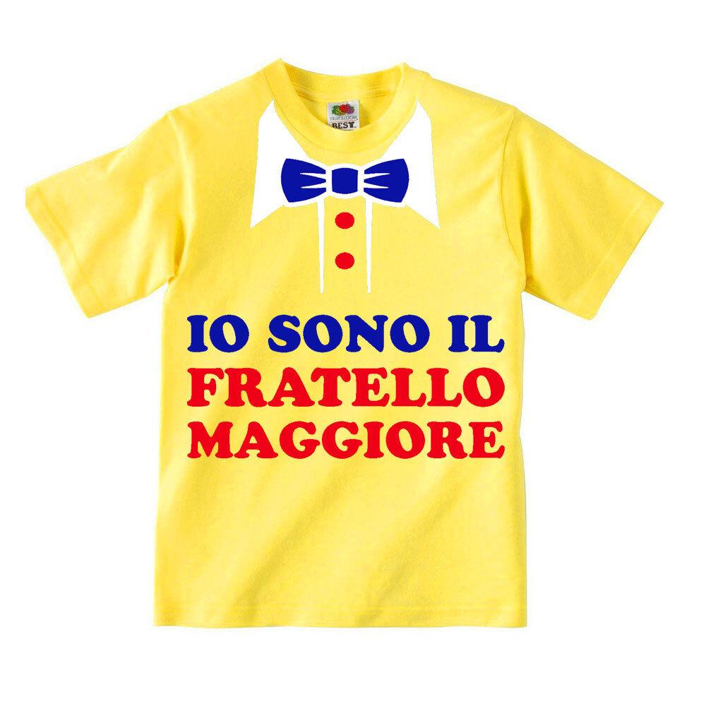 divertente bambino Simpatica t-shirt bimbo con stampa colletto e cravatta finta