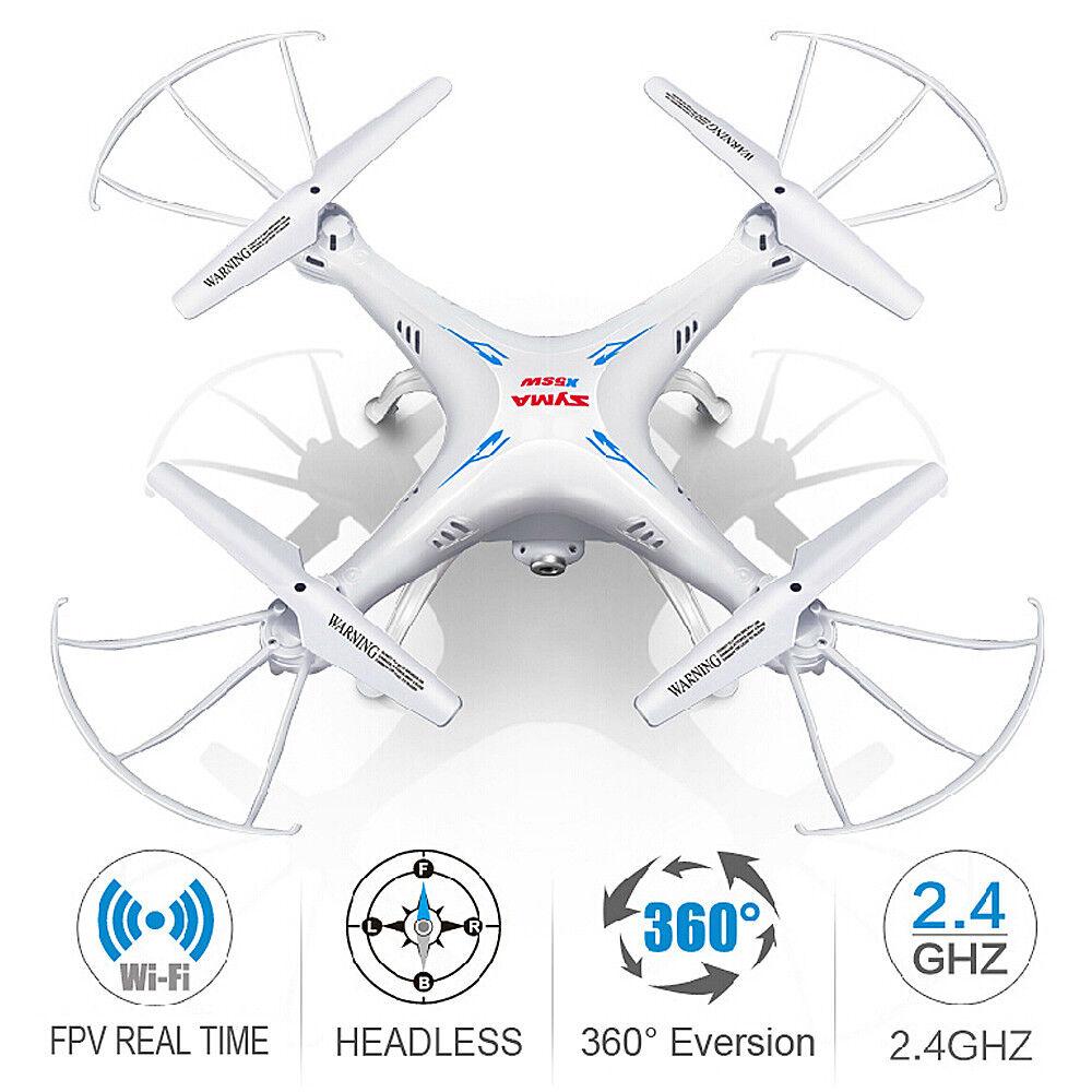 Syma X5SW-V3 RC Quadcopter WIFI FPV Drone 2.4Ghz 4CH with HD Camera RTF White