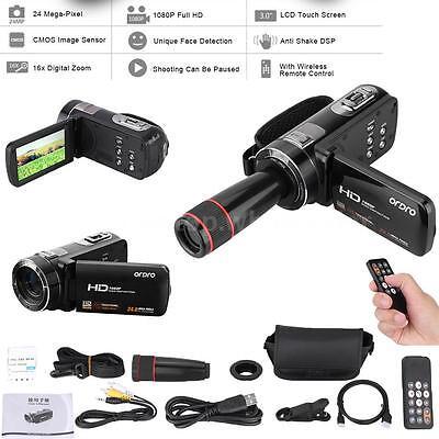 Full HD 1080P 24MP 16X ZOOM Digital Video Camcorder Camera DV 3.0