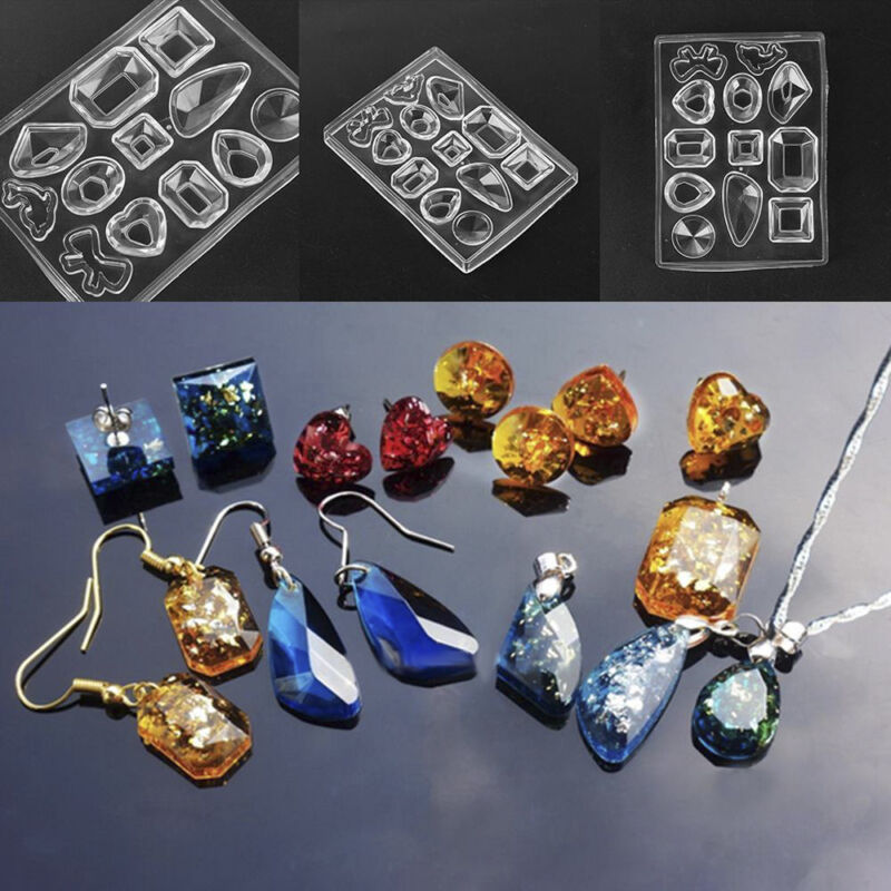 Hot DIY Silicone Pendant Mold Jewelry Making Resin Casting M