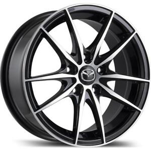 """Mazda M010 Alloy Rims (Gloss Black Finish with Machined Face) - 16""""/17"""""""