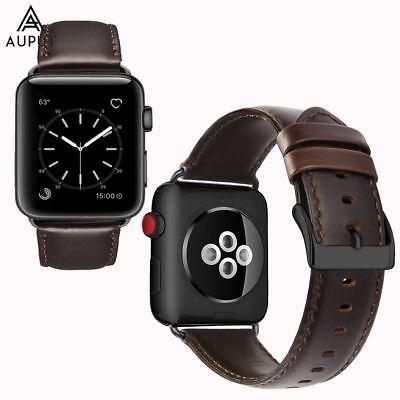 Genuine Leder Uhrenarmband Ersatzband Für Apple Watch Series 4/3/2/1 42/44mm DE