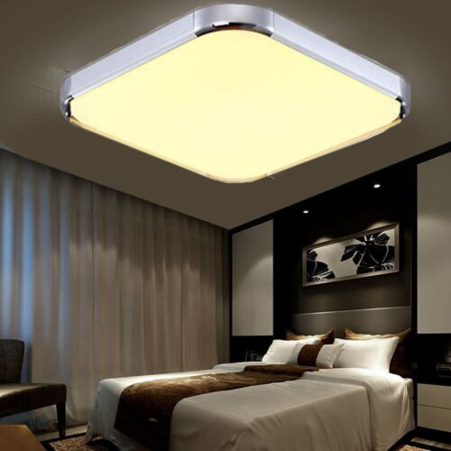 36w led deckenleuchte panel 45x45 cm deckenlampe flurleuchte warmwei badleuchte ebay. Black Bedroom Furniture Sets. Home Design Ideas
