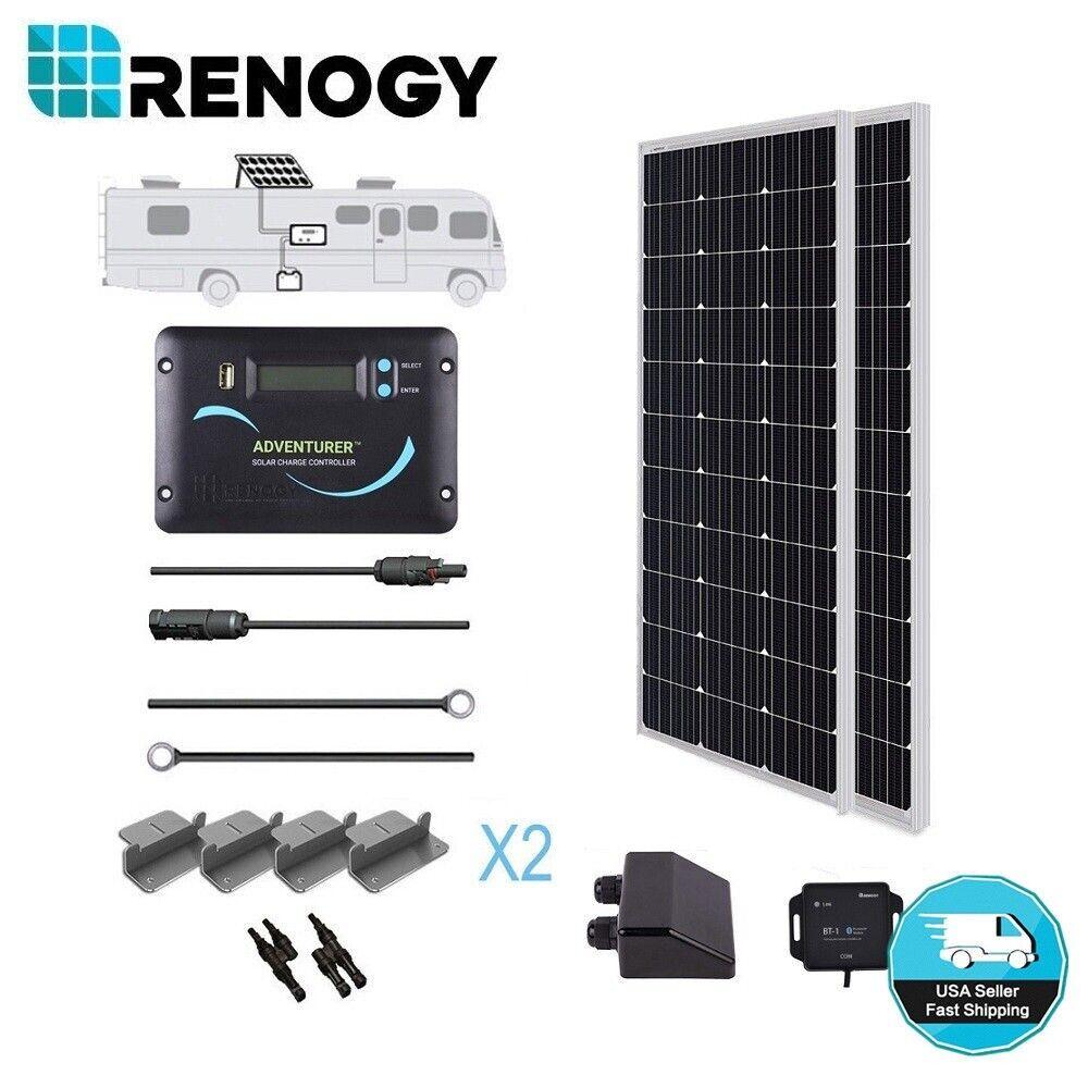 Renogy 200W Watt 12V Mono Solar Panel RV Kit Motorhome Van 3