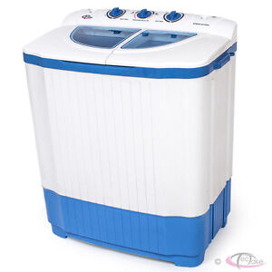 Mini Washing Machine 4,5 kg Portable Twin Tub Camping Washer + Spin Dryer