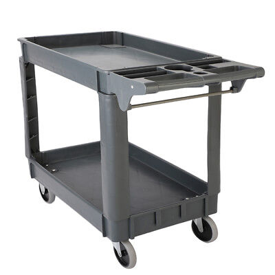 Universal 550 Lb Load Utility Service Cart 2 Shelves Tool Trolley Rolling