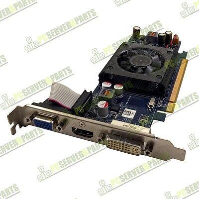 OEM Dell ATI Radeon HD4350 512MB DDR2 HDMI VGA DVI PCI-E Video Card P002P TESTED