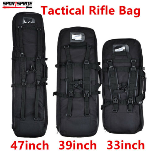 38/'/' 100CM Tactical Rifle Bag Sniper Shockproof Case Padded Gun Shoulder Bag