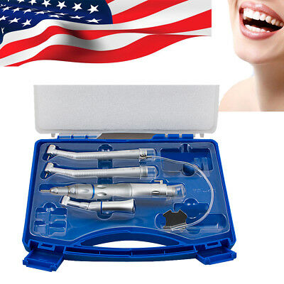 Fit Nsk Turbine Dental Low High Speed Handpiece Kit Push Button 2 Hole With Box