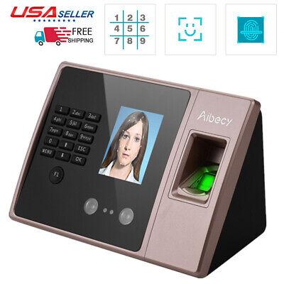 Aibecy Hd Display Biometric Face Fingerprint Password Attendance Machine G5j3