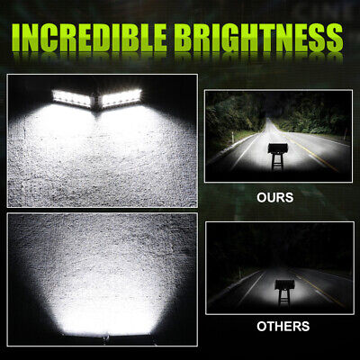 "2x7""Inch 120W Cube LED Work Light Bar Flood Pods Off Road Fog Lights Pickup ATV"