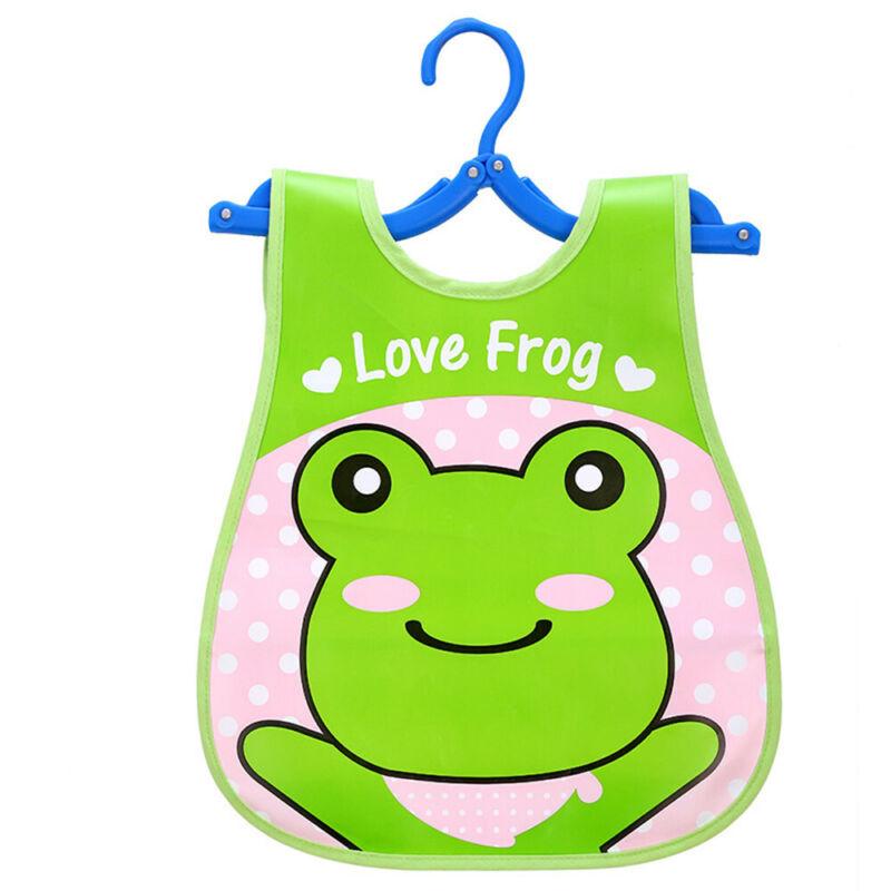 Newborn Cute Kids Bibs Baby Soft Cartoon Bib Toddler Waterproof Saliva Dripping E