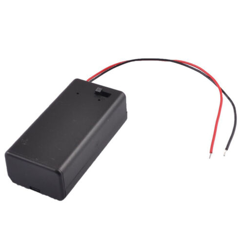 Black Plastic Storage Pair SBH-9V Batteries Switch Battery Holder Case Box AD