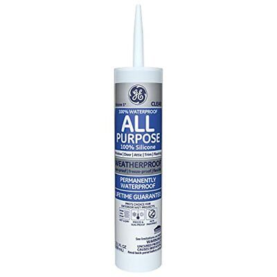 GE Silicone I All Purpose Caulk 101 Oz Tube Clear GE012A
