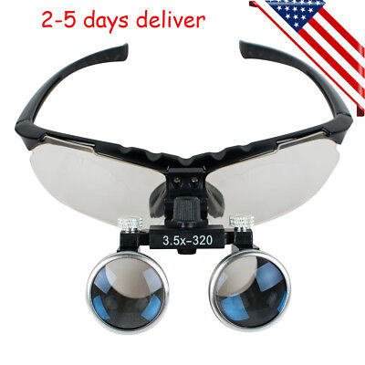 Dental 3.5x Medical Binocular Loupes 320mm Magnifier Magnifying Optical Glasses