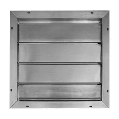 Broan Automatic Gable Attic Vent Mount Louvered Shutter Aluminum Roof Fan (Aluminum Roof Mounted Vent)