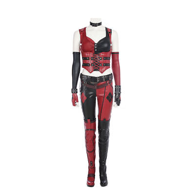 Batman Arkham Knight Harley Quinn Uniform Cosplay Costume Halloween Custom Made