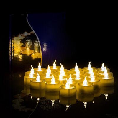Batterie Kerzen (12x 24x Kerzen Flackernde Batterie Flammenlose Elektrische Teelicht LED Teelicht)