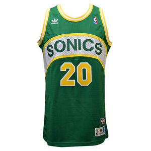 SEATTLE SONICS Gary Payton Throwback SWINGMAN Jersey L