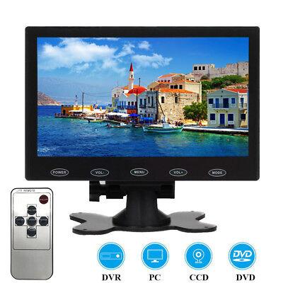 Mini 7 TFT LCD Display Home Monitor CCTV PC Screen AV/RCA/VGA/HDMI Speaker 16:9