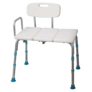 Used Aquasense Adjustable Bath and Shower Transfer Bench with Reversible Backrest Condtion: USED