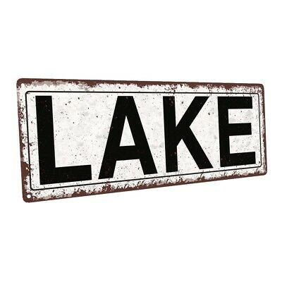 Lake Metal Sign; Wall Decor for Vacation Home ()