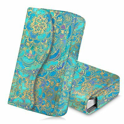 Business Card Holder Name Card Wallet Case Magnetic Closure- Shades Of Blue
