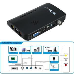 NTSC External VGA AV LCD Monitor Analog TV Program Receiver Tuner Box HDTV 06V9