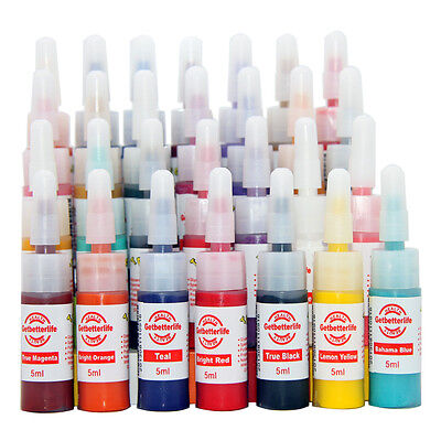 New Complete 28 Colors Tattoo Ink Set Kit 5ML Needle Machine Supply USA on Rummage