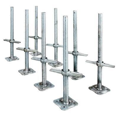24 Scaffolding Leveling Jack Steel Plate Base Adjustable Screw 8 Pack Metaltech