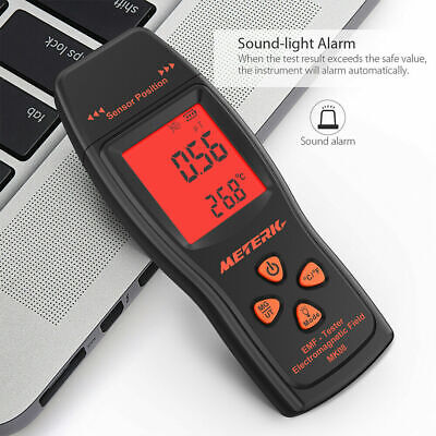 *NEW* LCD EMF & Temperature Meter with Alarm Ghost Hunting Paranormal Equipment